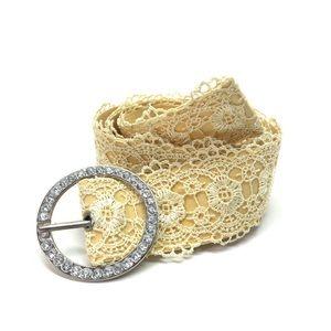Accessories - Yellow Lace Women's Fashion Belt